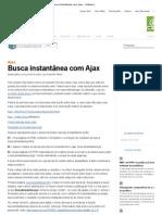 Busca instantânea com Ajax – iMasters