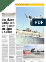 Los Skate Parks Son Un Boom en Lima y Callao
