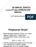 Operasi Sinyal Waktu Diskrit Dan Konvolusi Sinyal