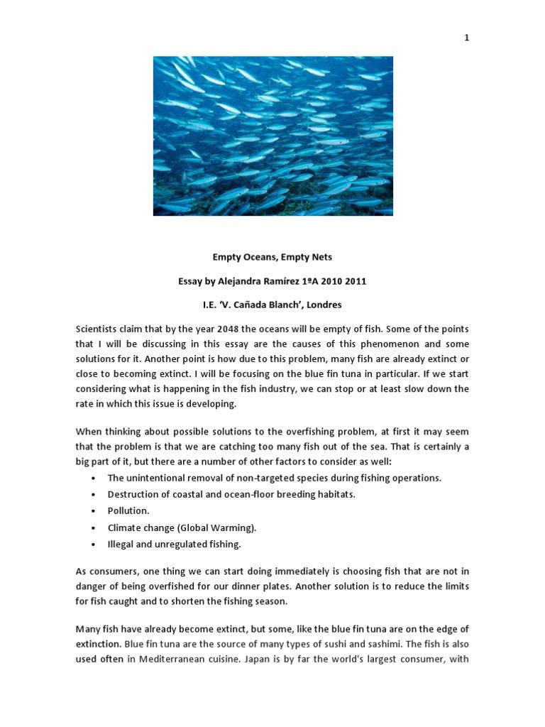empty oceans empty nets by alejandra r overfishing tuna