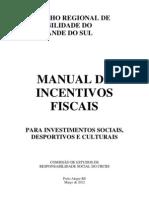 Manual de Incentivos Fiscais - atualizado até MAR2012