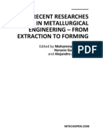 Recent Researches in Metallurgical Engineering - From Extraction to Forming