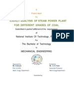 Project [Exergy Analysis of Steam Power Plant]