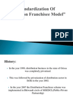 Standardization of Distribution Franchisee Model
