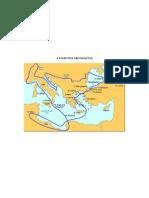 Mapa da viaxe dos Argonautas