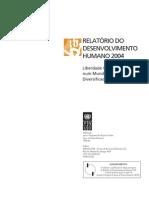 RELATÓRIO DESENVOLVIMENTO HUMANO 2004