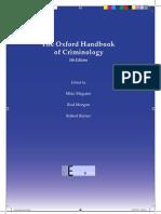Oxford Handbook of Criminology
