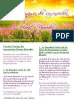Ramadan Newsletter 2011 Vorzüge