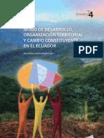 Modo de Desarrollo y Organizacion Territorial en Ecuador