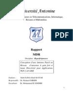 Conception Antenne WIFI -Microruban -HFSS_Methodologie De Recherche