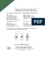 Spot Welding Formula