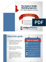 Mobile Marketing Agencies Guide 2012