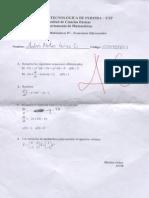 Examen Final de matemáticas 4