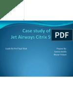 Project Report on Jet Airways Citrix