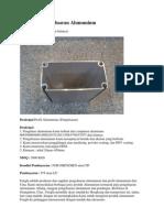 Profil Dan Pengeluaran Alumunium