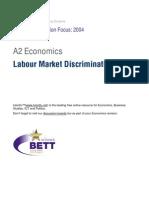 A2 Labour Market Discrimination