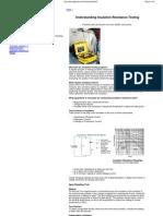 COLE-PARMER.understanding Insulation Resistance Testing