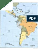 mapa de latinoamerica