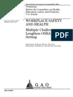 Multiple Challenges Lengthen OSHA's Standard Setting 04-19-2012_590210