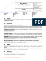 PRO-SIS-01 Control de Documentos 28-03-2012