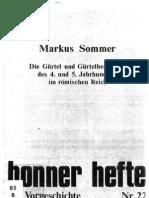 Sommer - Die Gurtel Und Gurtelbeschlage Des 4. Und 5. Jahrhunderts Im Romischen Reich