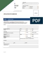 Application Form for Miu
