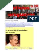Noticias Uruguayas Lunes 7 de Mayo de 2012