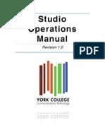 York College CT Department Studio Operations Manual