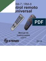 Manual y Codigos Del Control Remoto Steren