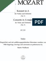 Mozart - Violin Concerto No.5 in a Major KV219 (Barenreiter)_Vln