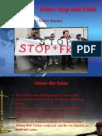 Stop and Frisk Presentation 05-07-12