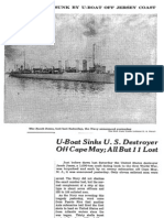 New York Times account of USS Jacob Jones sinking by German U-Boat - from March 4, 1942 issue