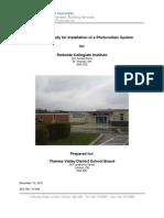 Parkside Collegiate Institute - Photo Voltaic Feasibility Report