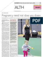 Vancouver Sun - May 7 2012 - Pregnancy Need Not Slow You Down