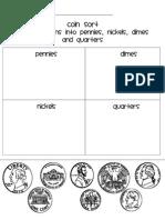Coin Sorting Sheet