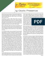 Pursuing God's Presence