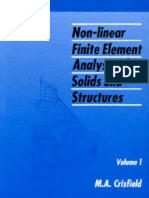 Non-Linear Finite Element Analysis of Solids and Structures Vol.1 - M.a. Crisfield