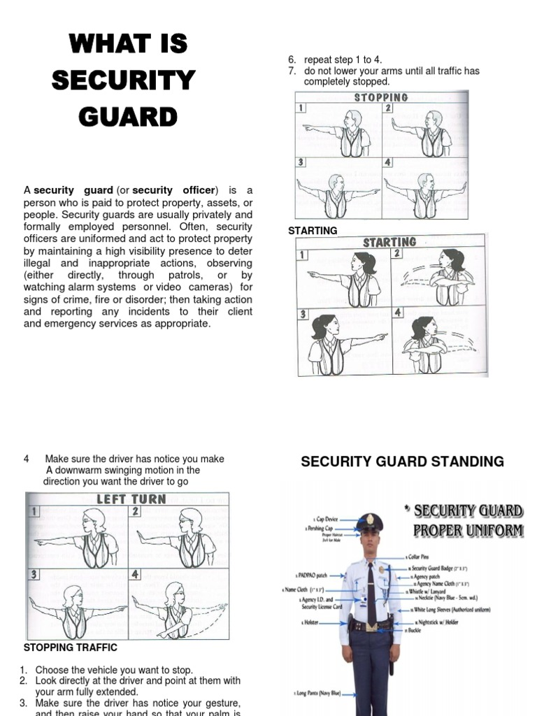 Security guard handbook security guard hand yadclub Choice Image