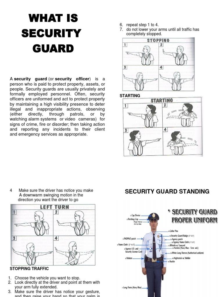Security guard handbook security guard hand fandeluxe Choice Image