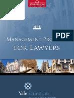 Management Program for Lawyers - Yale School of Management