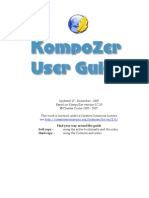 KompoZer User Guide