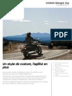 2012 Yamaha XVS950A Factsheet FR FR