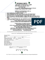 NSHS Basketball Camp Form 2012