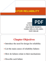 Design for Reliability by Adesh