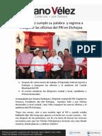 05-05-12 Cano Vélez cumple su palabra  y regresa a inaugurar las oficinas del PRI en Etchojoa