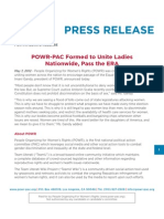 POWR-PAC Formed to Unite Ladies Nationwide, Pass the ERA