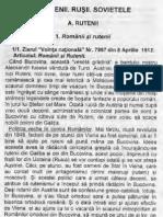 Rușii și Rutenii în rapoartele serviciilor speciale românești din perioada interbelică