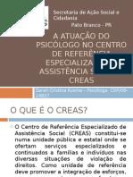 A ATUAÇÃO DO PSICÓLOGO NO CENTRO DE REFERÊNCIA