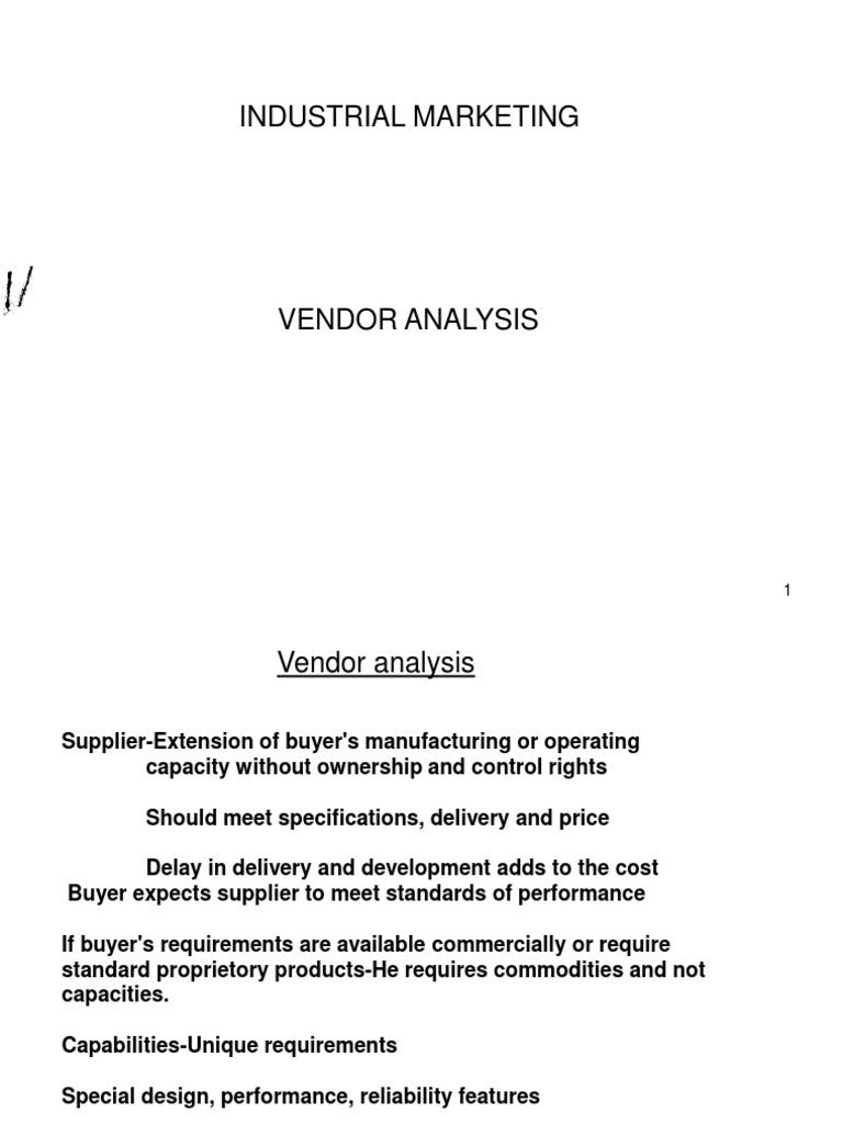 Vendor Analysis | Inventory | Marketing