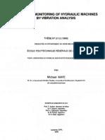 Cavitation Monitoring of Hydraulic Machines by Vibration Analisys